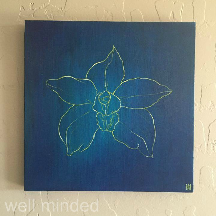 Blue Orchid 2 by Stephanie Han