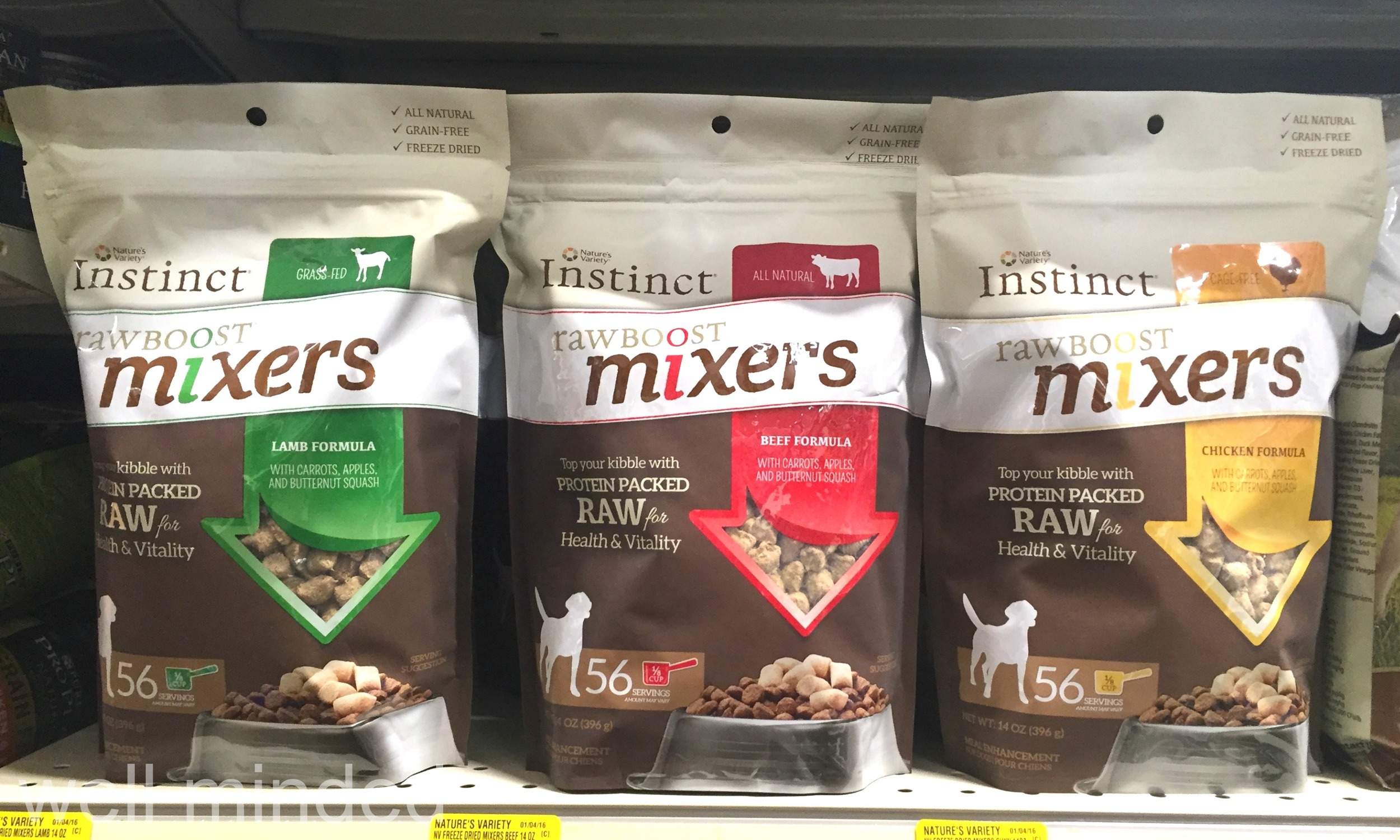 Decisions, decisions...which bag of Instinct Raw Boost Mixers should we choose?