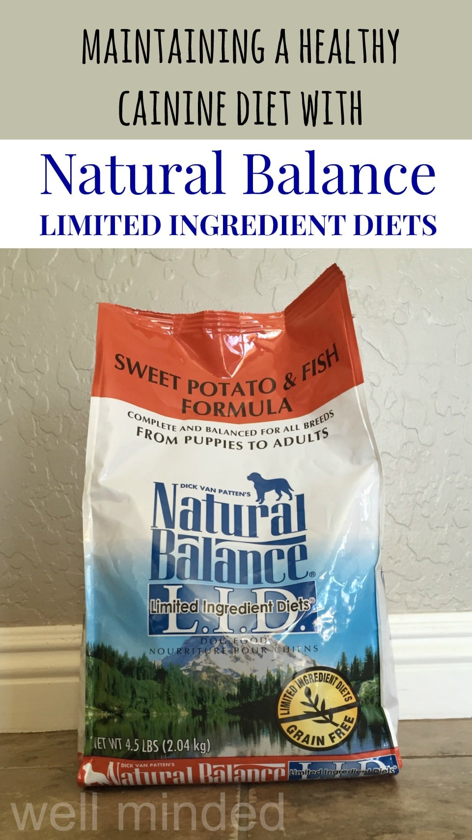 Maintaining a Healthy canine diet with Natural Balance Limited Ingredient Diets–well minded