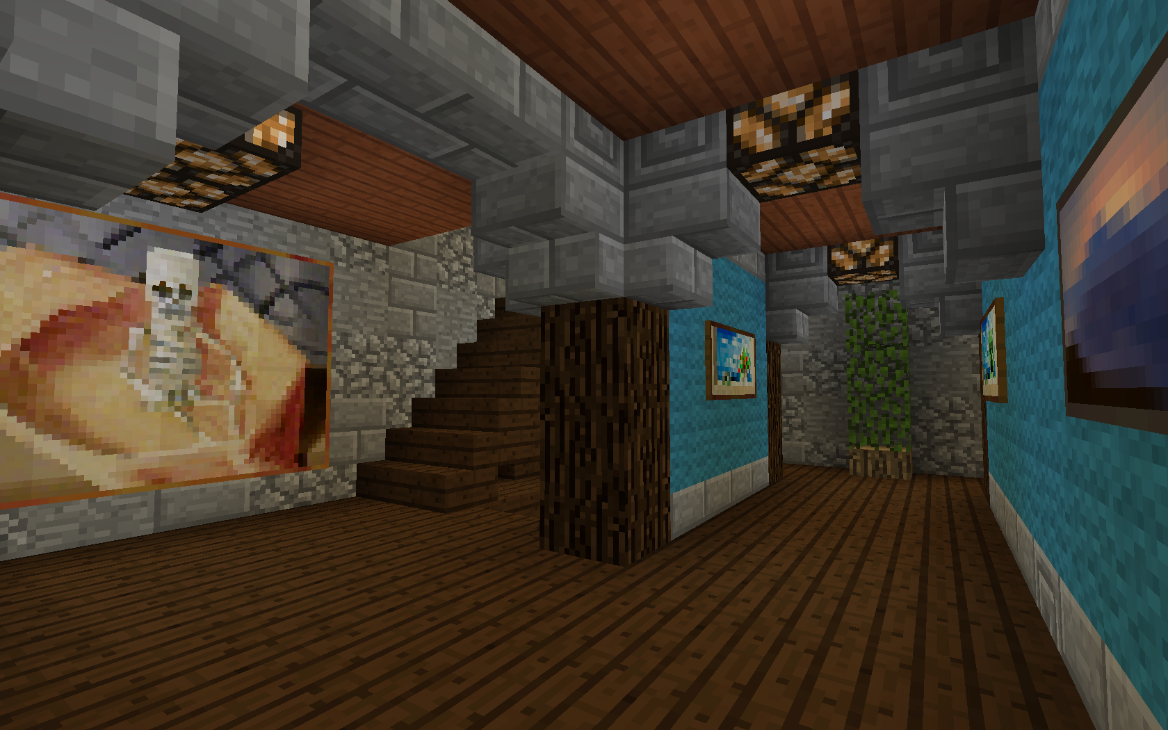 Interior Room of Tower House by Polygon_Wizard