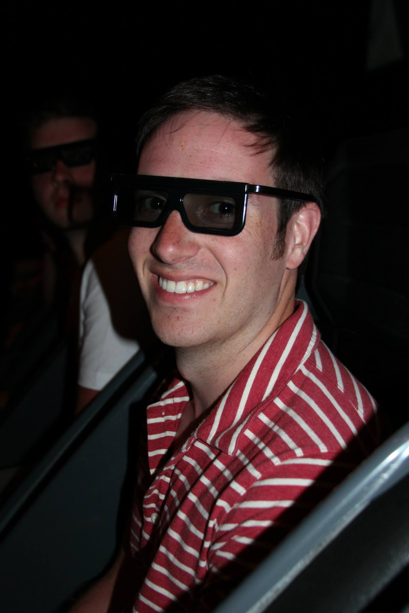 Enjoying a 3D movie at the Ripley's Museum