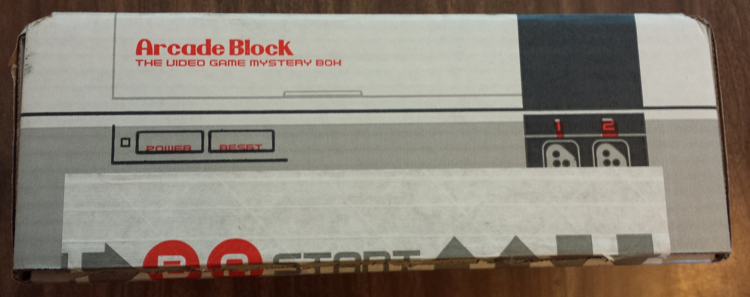 The front of the Arcade Block box