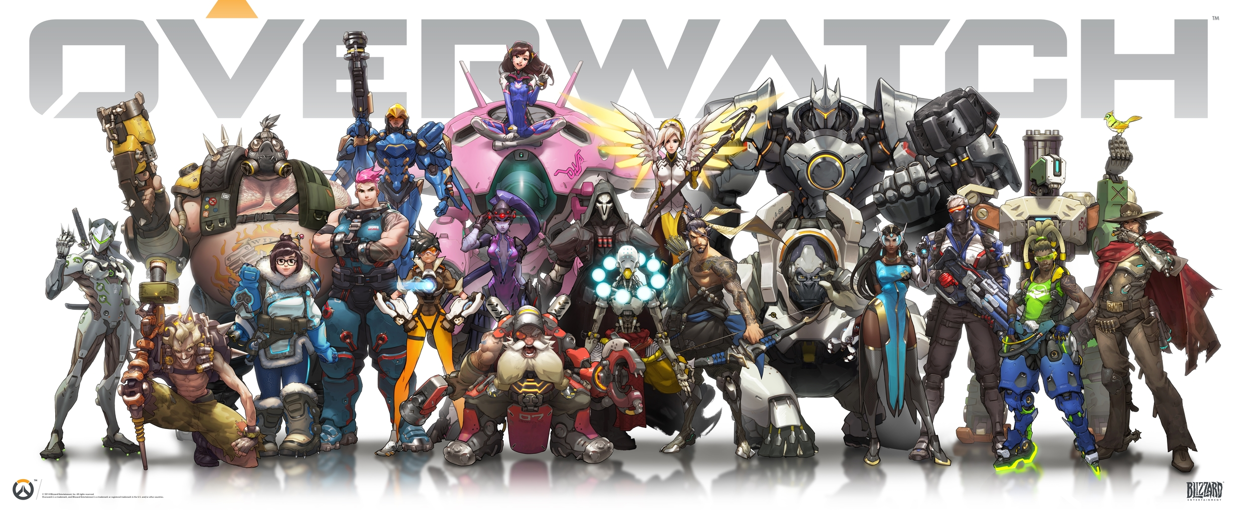 Heroes Lineup for Overwatch, as of June 2016