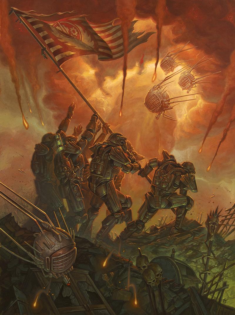 Brotherhood of Steel Raising the Flag