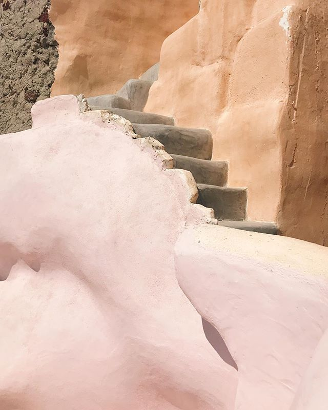 stairways to sunsets + secret beaches — santorini, you're all sorts of magic + i love you.