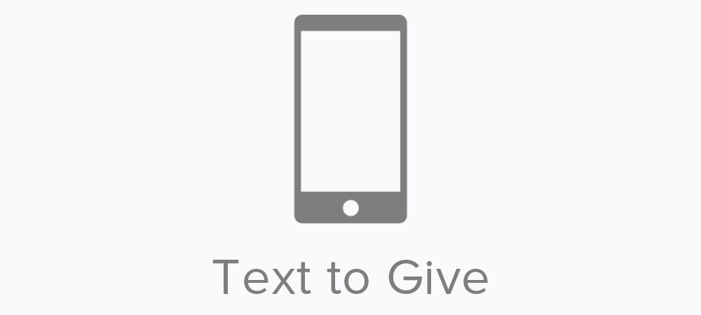 Text to give is quick and easy, just text any amount to 651-401-8551. You will receive a text back with a link to complete the registration process. Text to give uses industry-leading security to protect your personal information, and is never charged to your phone bill.
