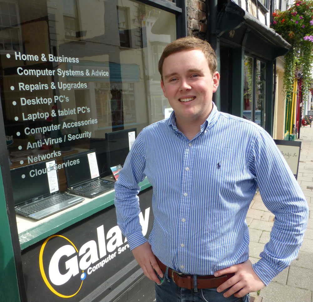 Will Weston of Galaxy Computers Whitchurch