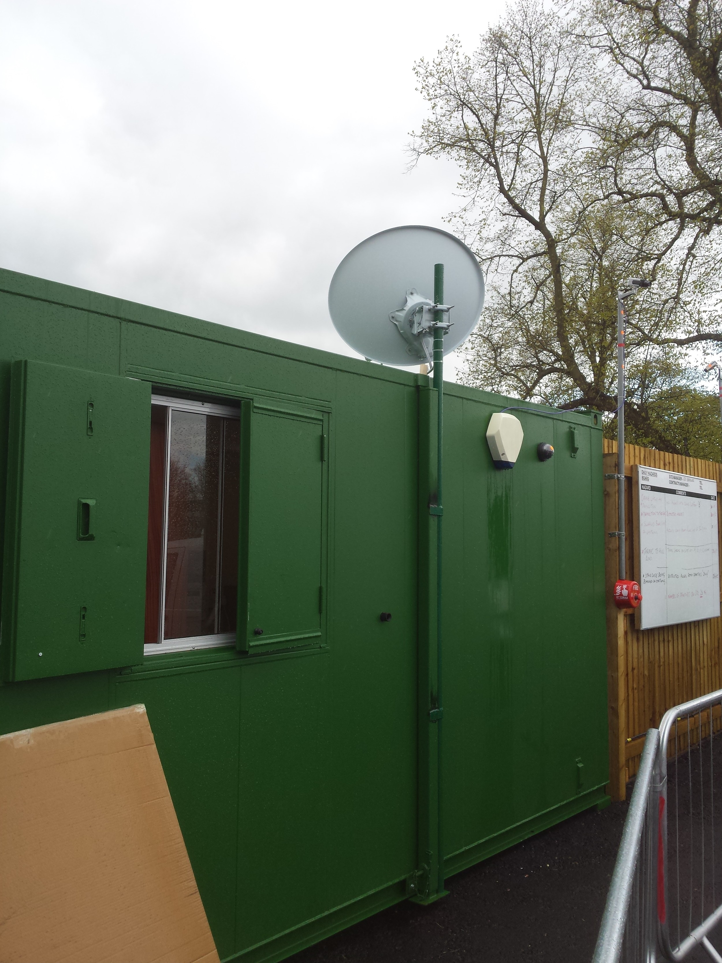 Satellite Broadband Installation at Former Stafford Hospital for Shropshire Homes Limited