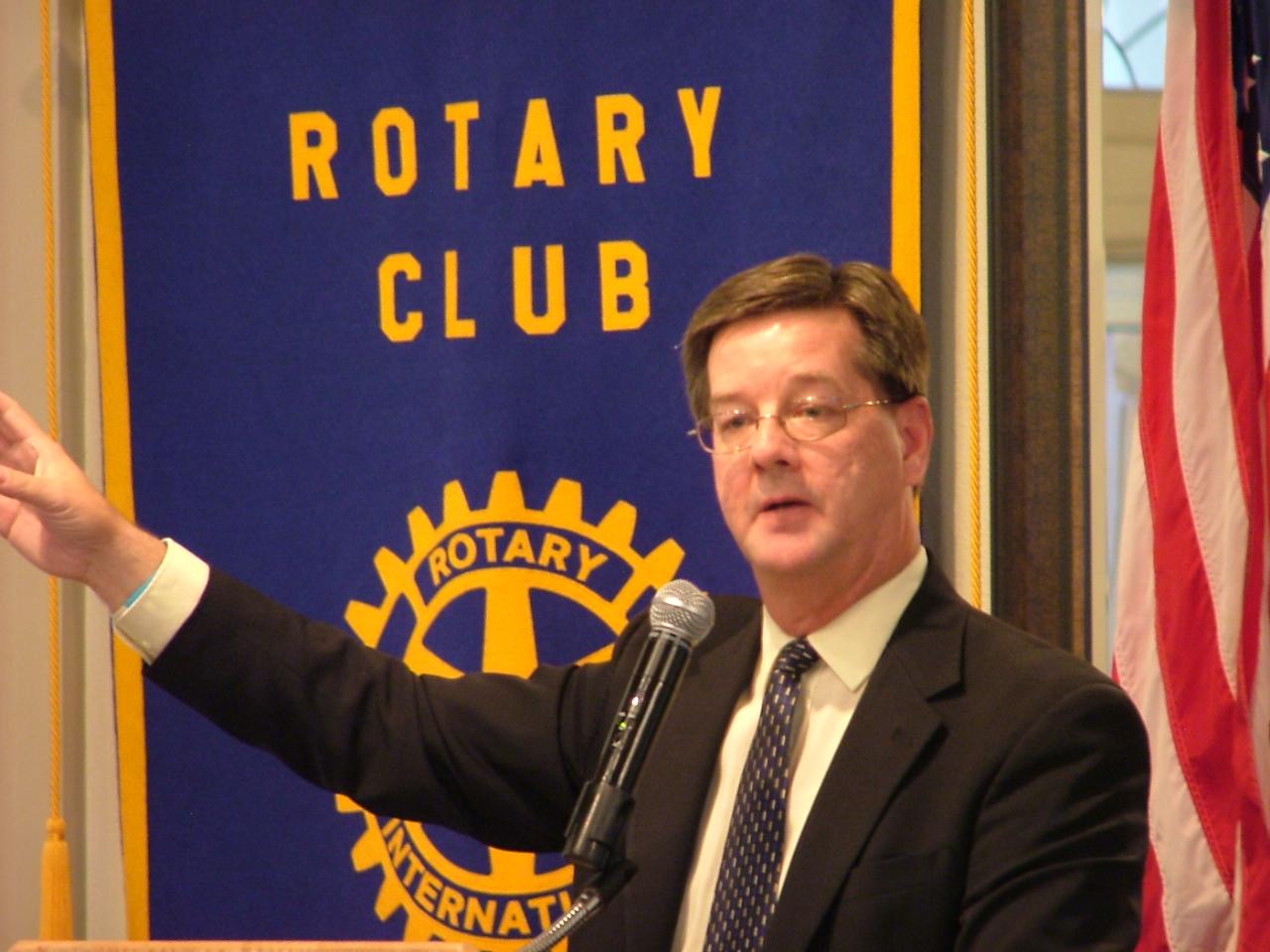 Frank Spillers at Marshalltown Rotary - Aug. 27, 2013.JPG