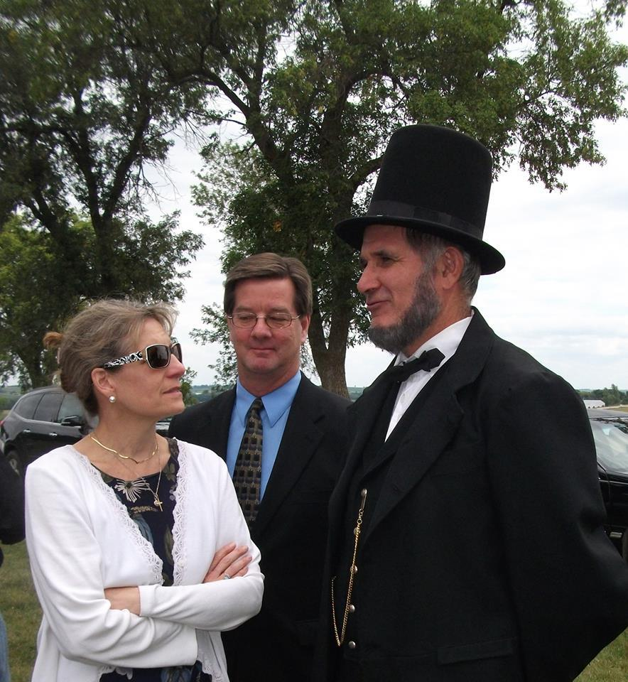 Mr. Lincoln with Frank and Kimberlee.jpg
