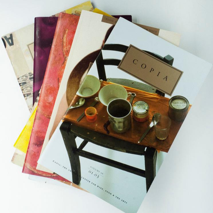 Produced 12 (two award-winning)  Copia  journals: created issue themes, commissioned writers, edited, picture edited, procured usage/rights.