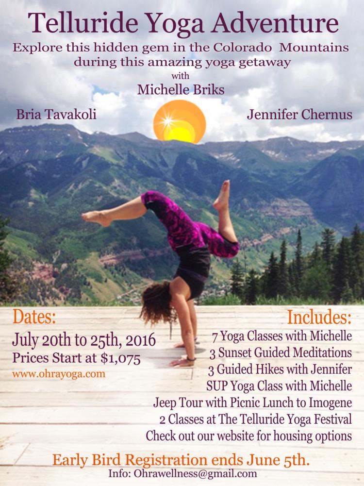 Summer Telluride Yoga & Hiking Retreat — Ohra Yoga