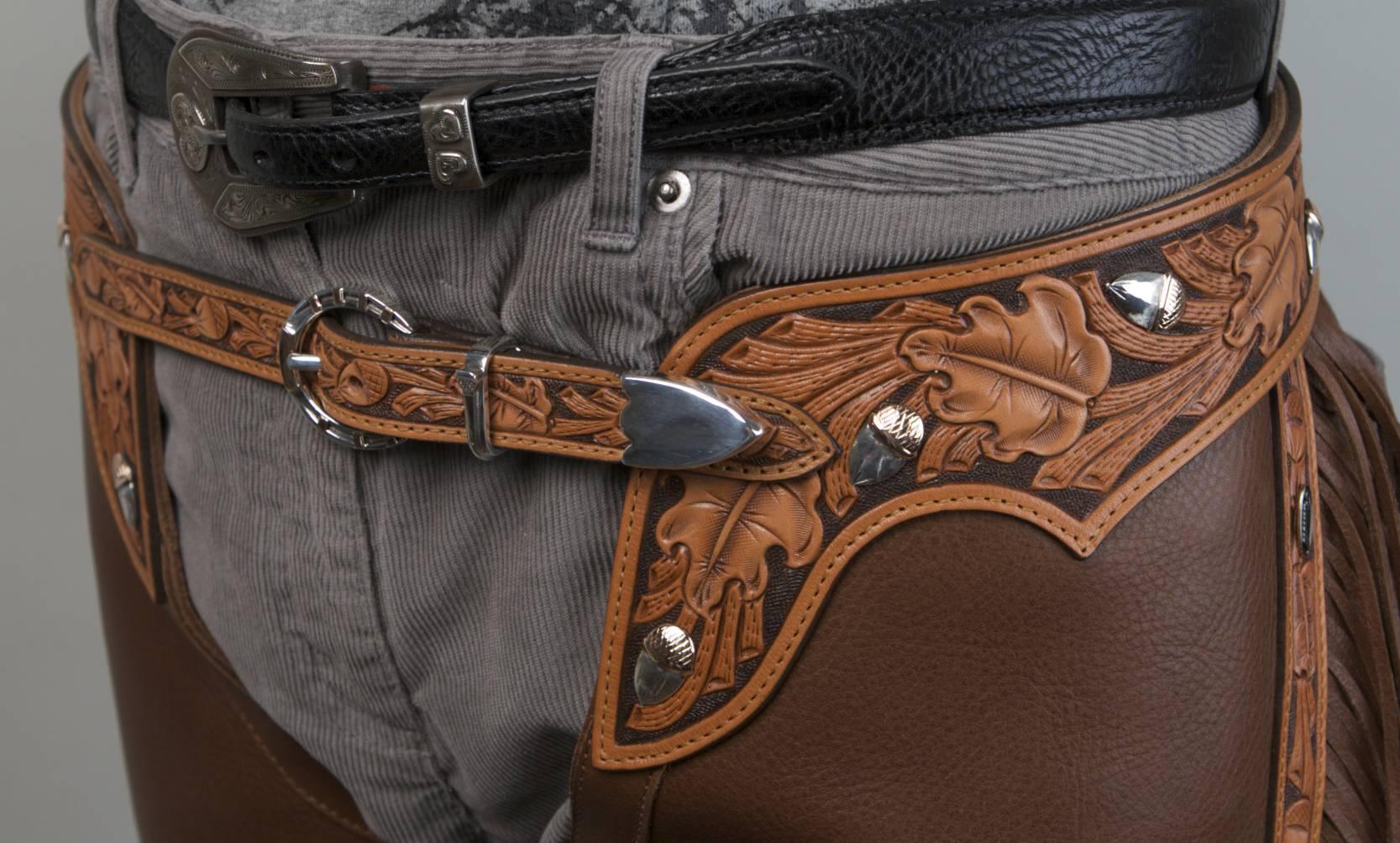 Hand-Carved Belt with Oak Leaf and Acorn Motif