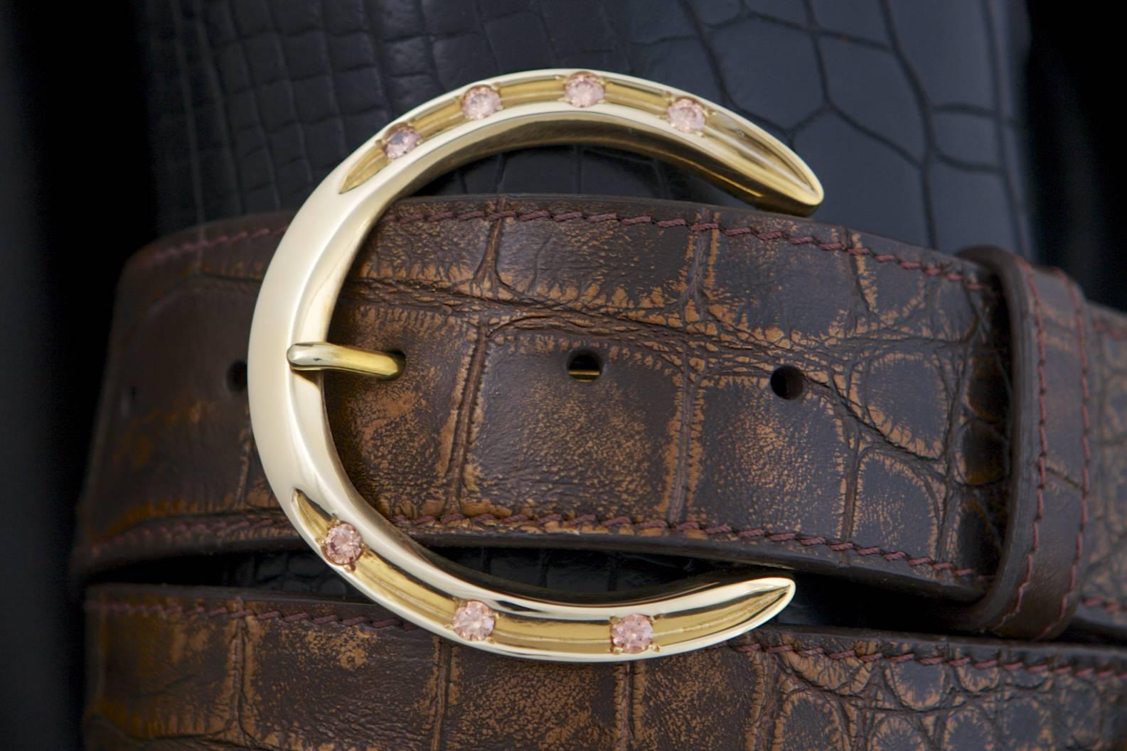 Pinnell Horseshoe Brass Buckle