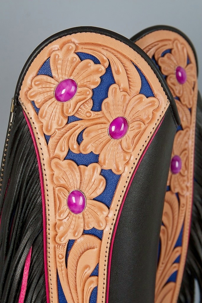 Hand Carved Half Chaps