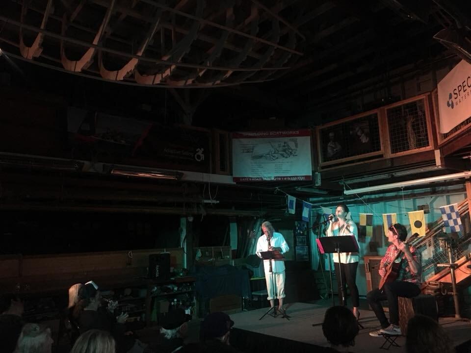 Cantadora at Masters & Mariners Music Series, Spaulding Marine Center in Sausalito CA, 2018.