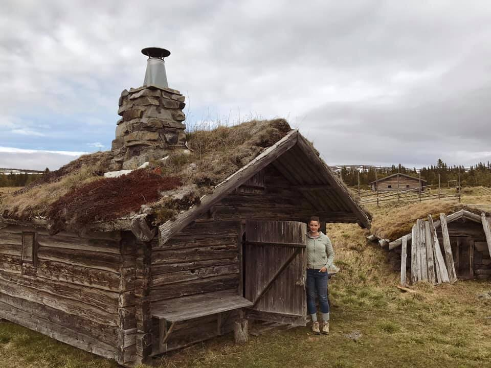 Kristine in the Fäbodarna on Oviksfjällen in Jämtland, Sweden following the footfalls of her great-grandmother who worked every summer on a fäbod on Oviksfjällen until emmigrating to the US in 1910.