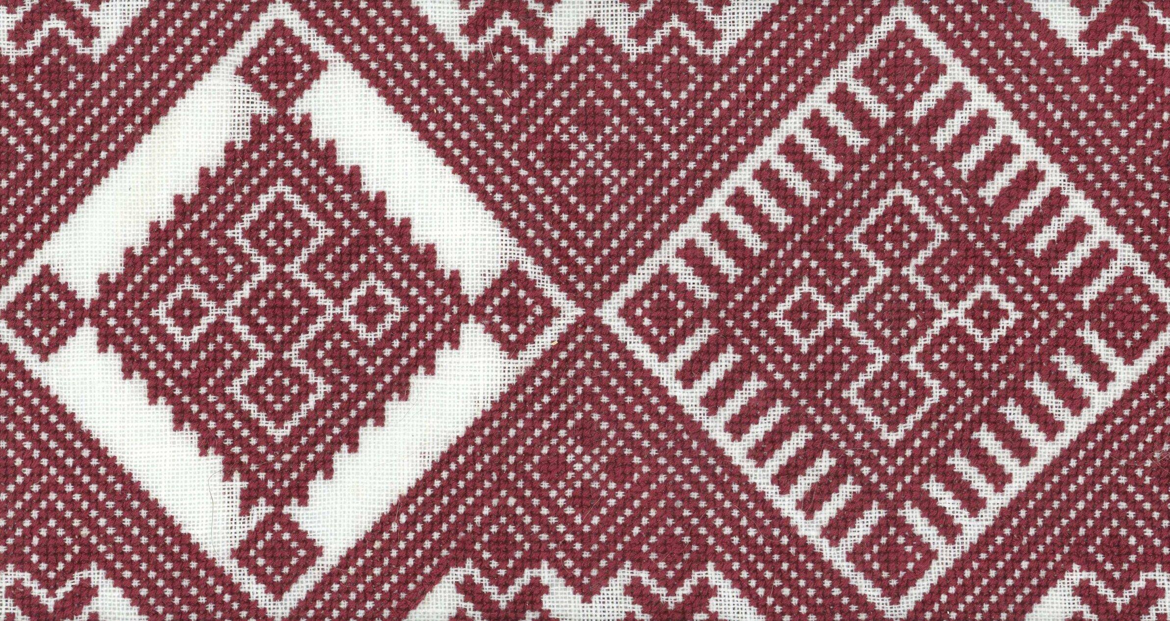 A variant on a traditional Ukranian cross stitch pattern.