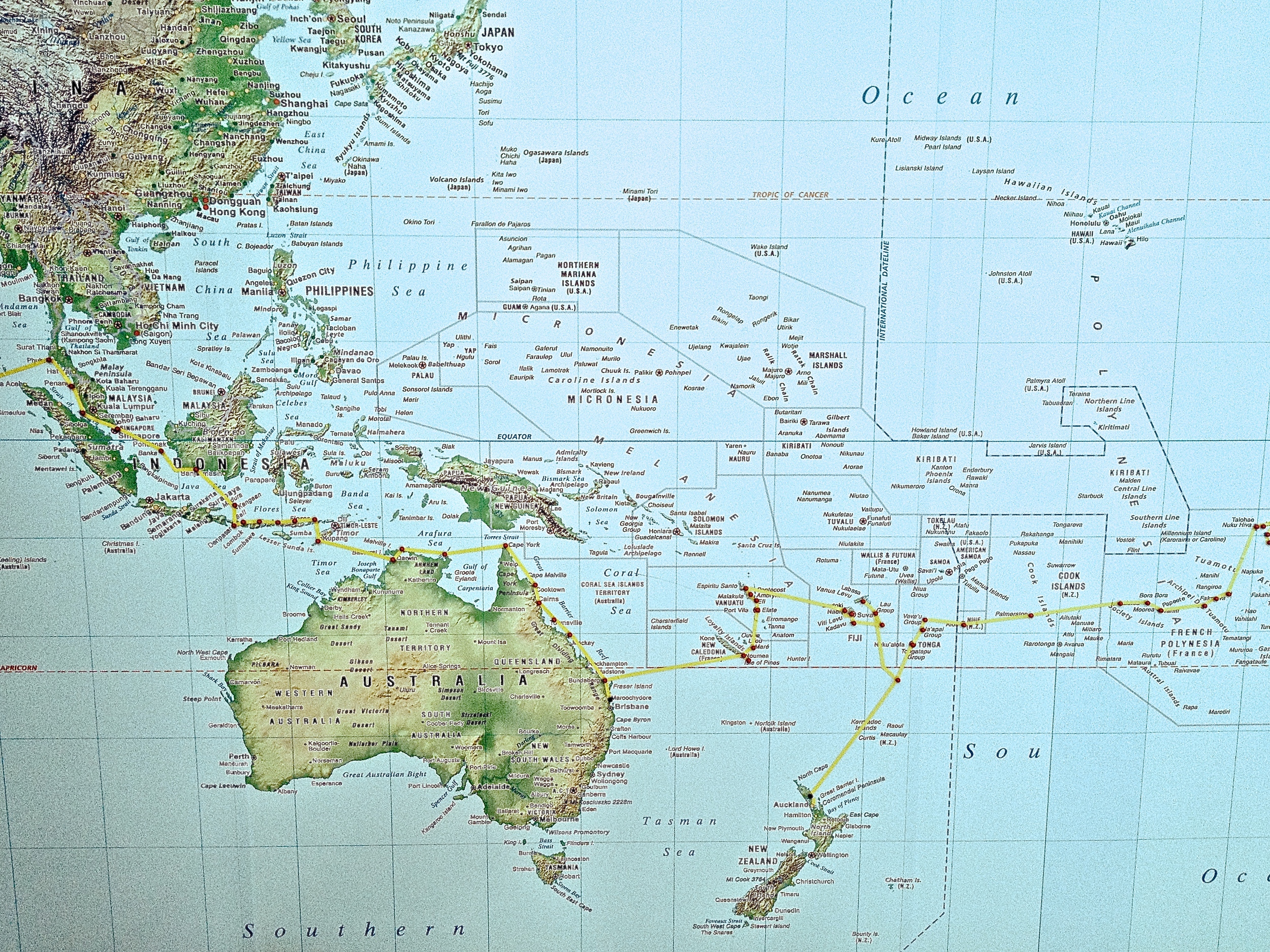 South Pacific Islands to Minerva Reef & New Zealand's North Island