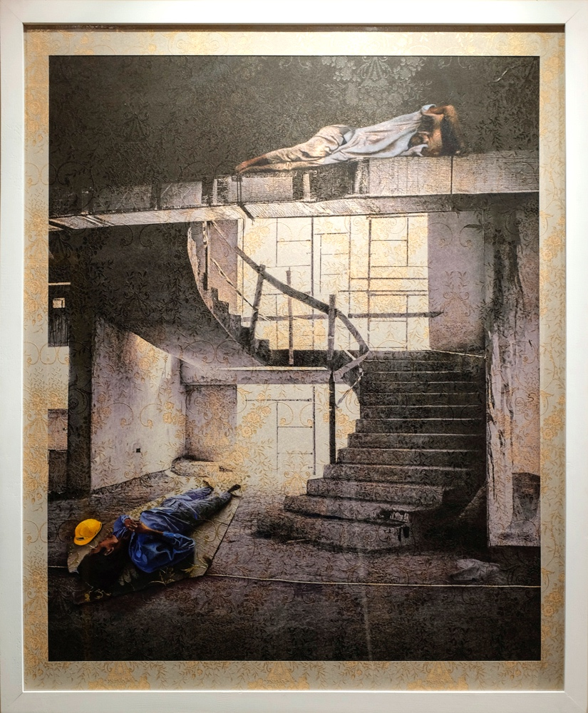 Two Men and Staircase