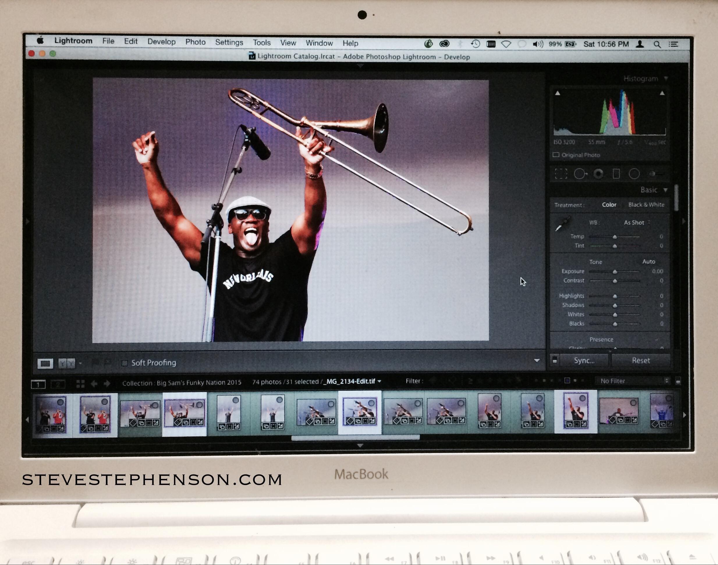 Editing Big Sam's Funky Nation Photos