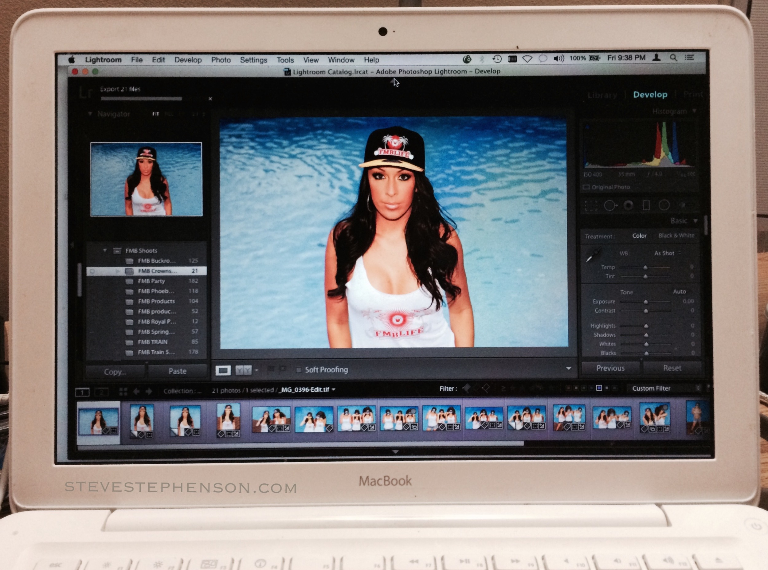Editing Last Nights Fashion Shoot