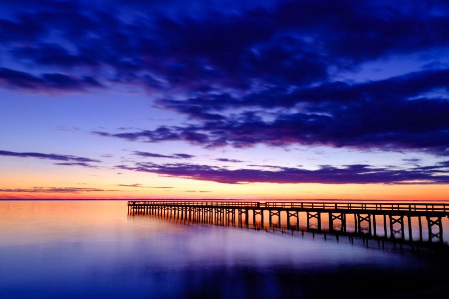 Hilton Pier Blue Sunset