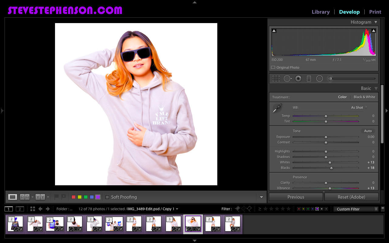 Editing Last shoot