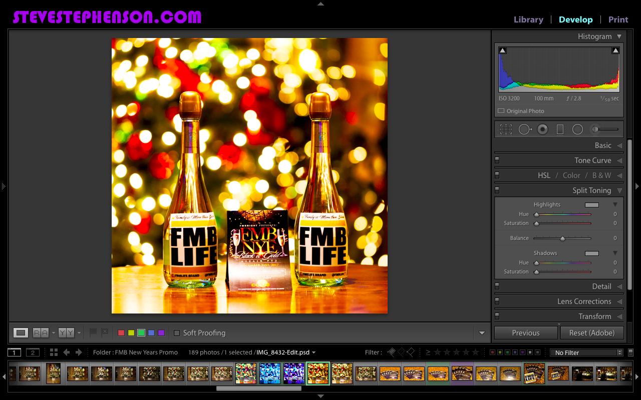Editing Shots from last photoshoot