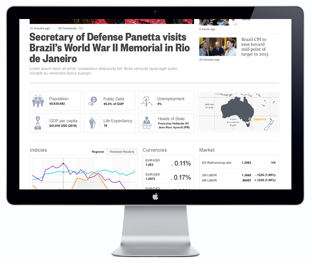 Reuters.com - Map and icons for the website's country pages