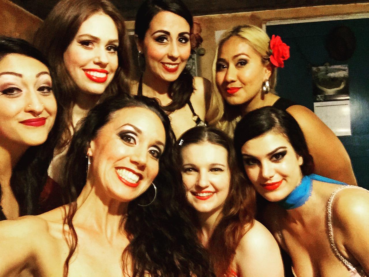 Raqs Artist Project graduates April 2016~ Alia Gamal, Eden Lighthipe, Cathy, Yuliya Lunessia, Belen Garibaldi, and Shirin