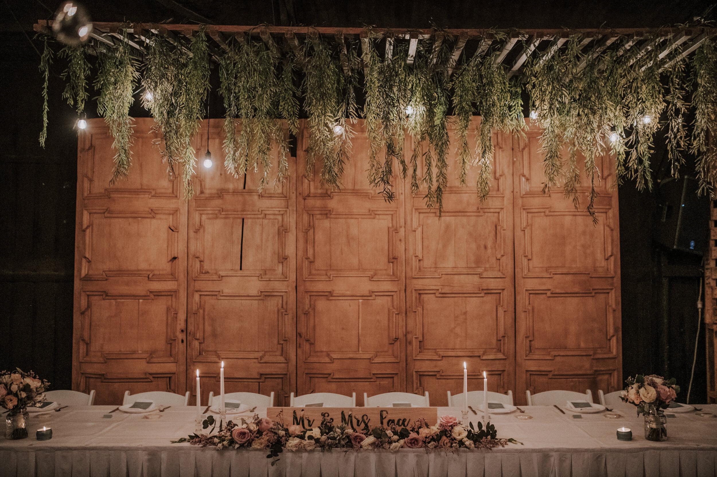 Jemma + Daniel's Bridal Table