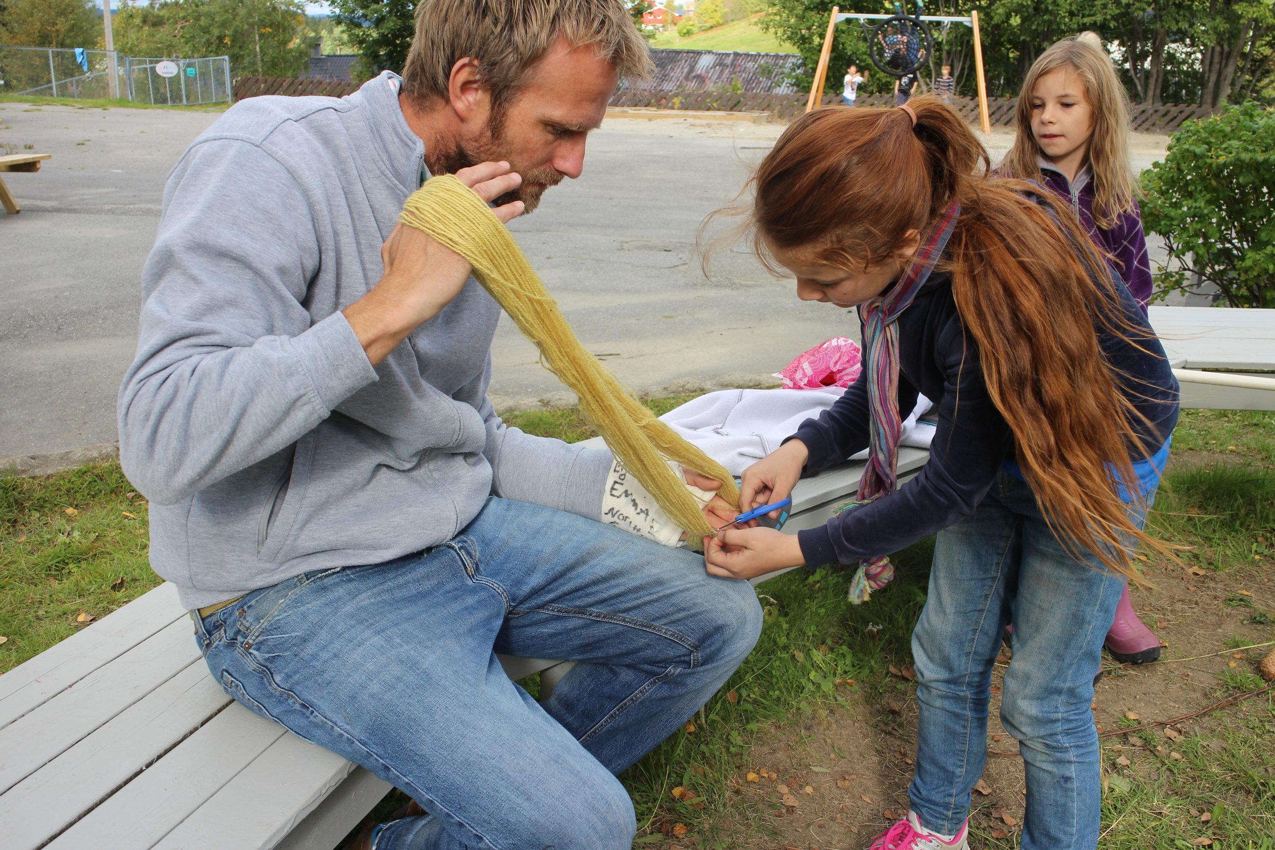 Plantefarging av garn