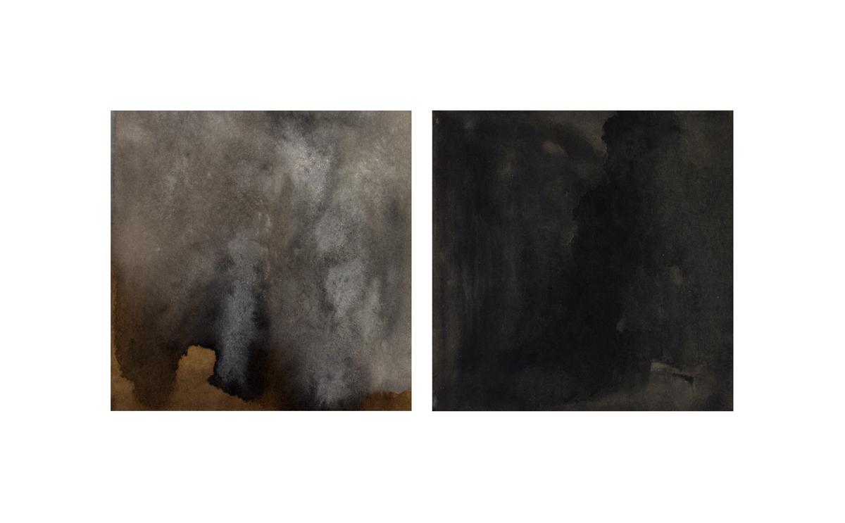 "Ebb & Flo   Gouache on Paper  8"" x 17""  2013"