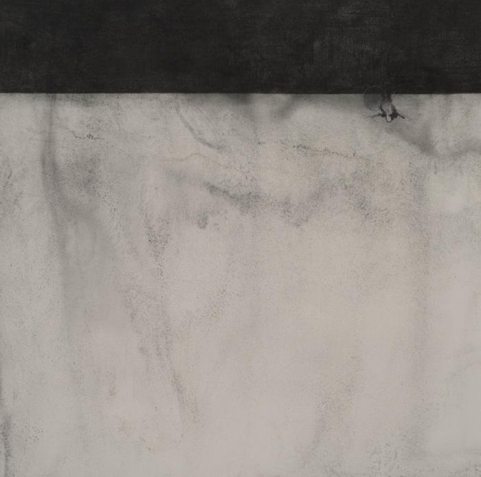 """Lost  Graphite & Colored Pencil on Paper  24.25"""" x 24.25""""  2012"""