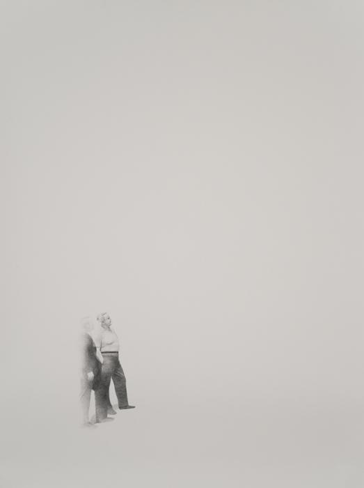 "Past, Present, and Future   Graphite on Paper  48"" x 38""  2012"