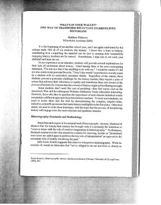 Teaching History, Vol. 20, No. 2    (Peer Reviewed)