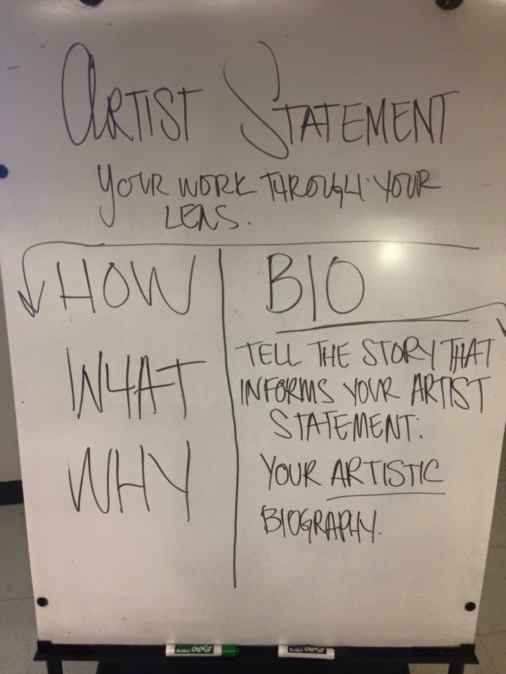 Artist Statement vs. Bio workshop