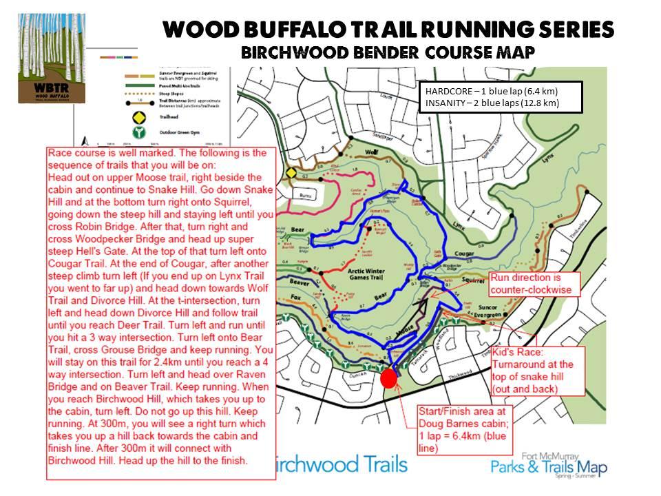 Birchwood Bender Course Map