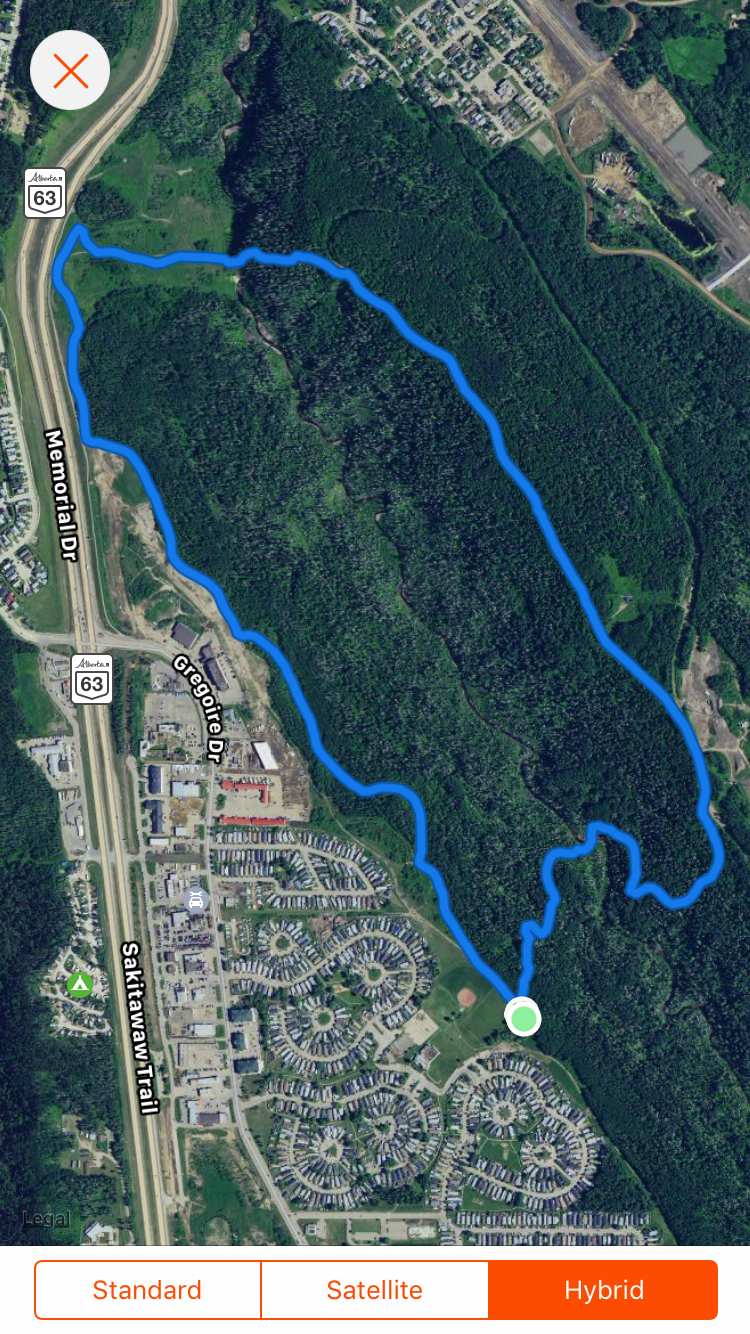 Birchwood Bender Course Map