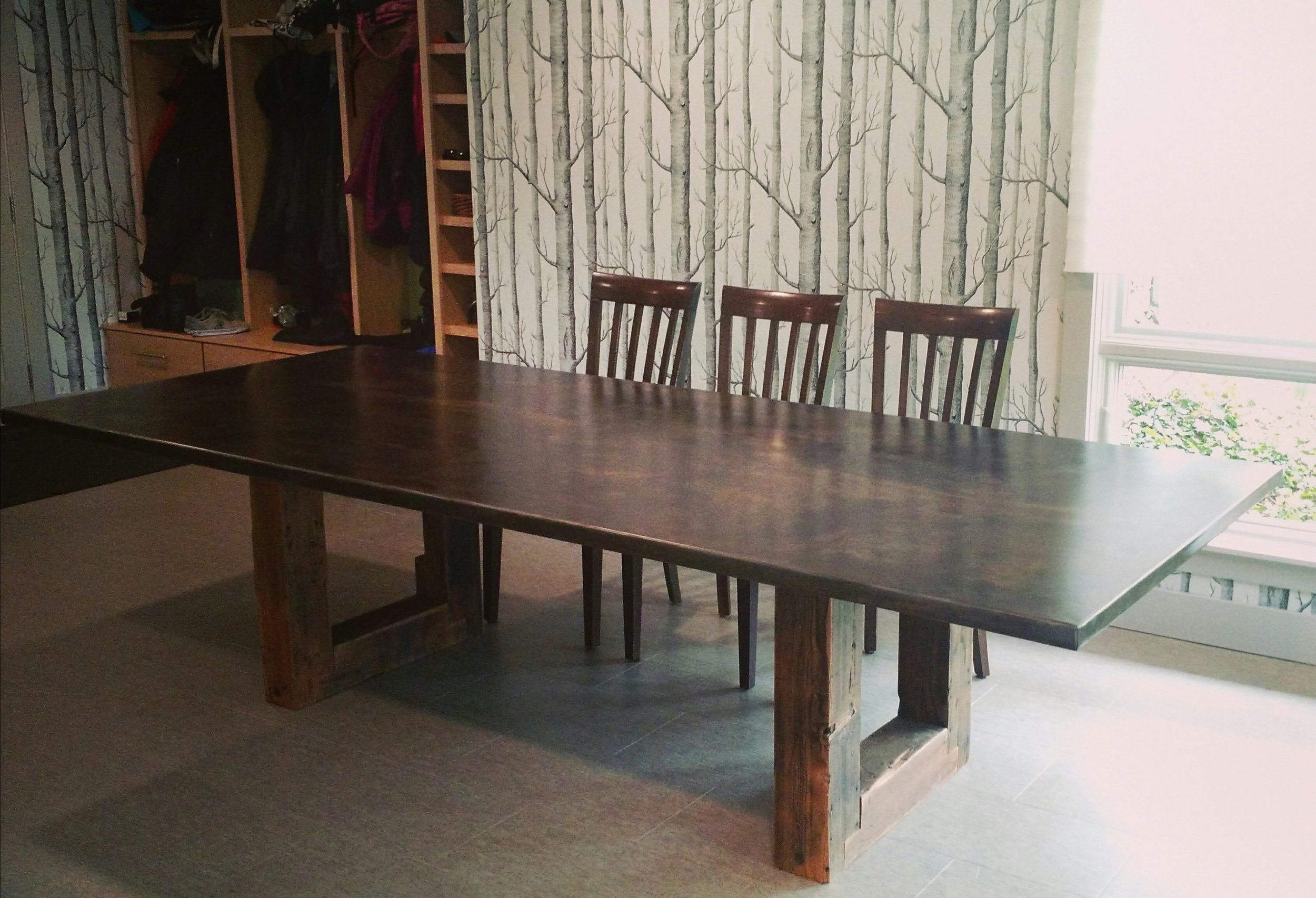 Steel-topped Table