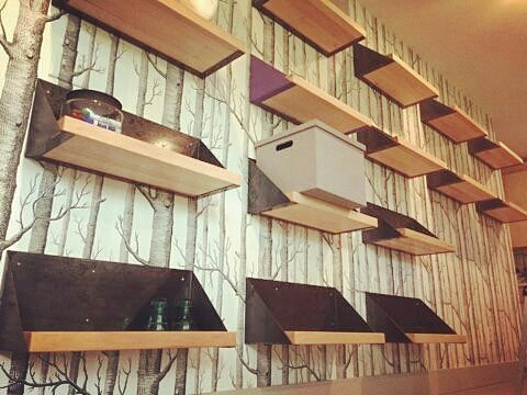 Steel and Maple Shelves
