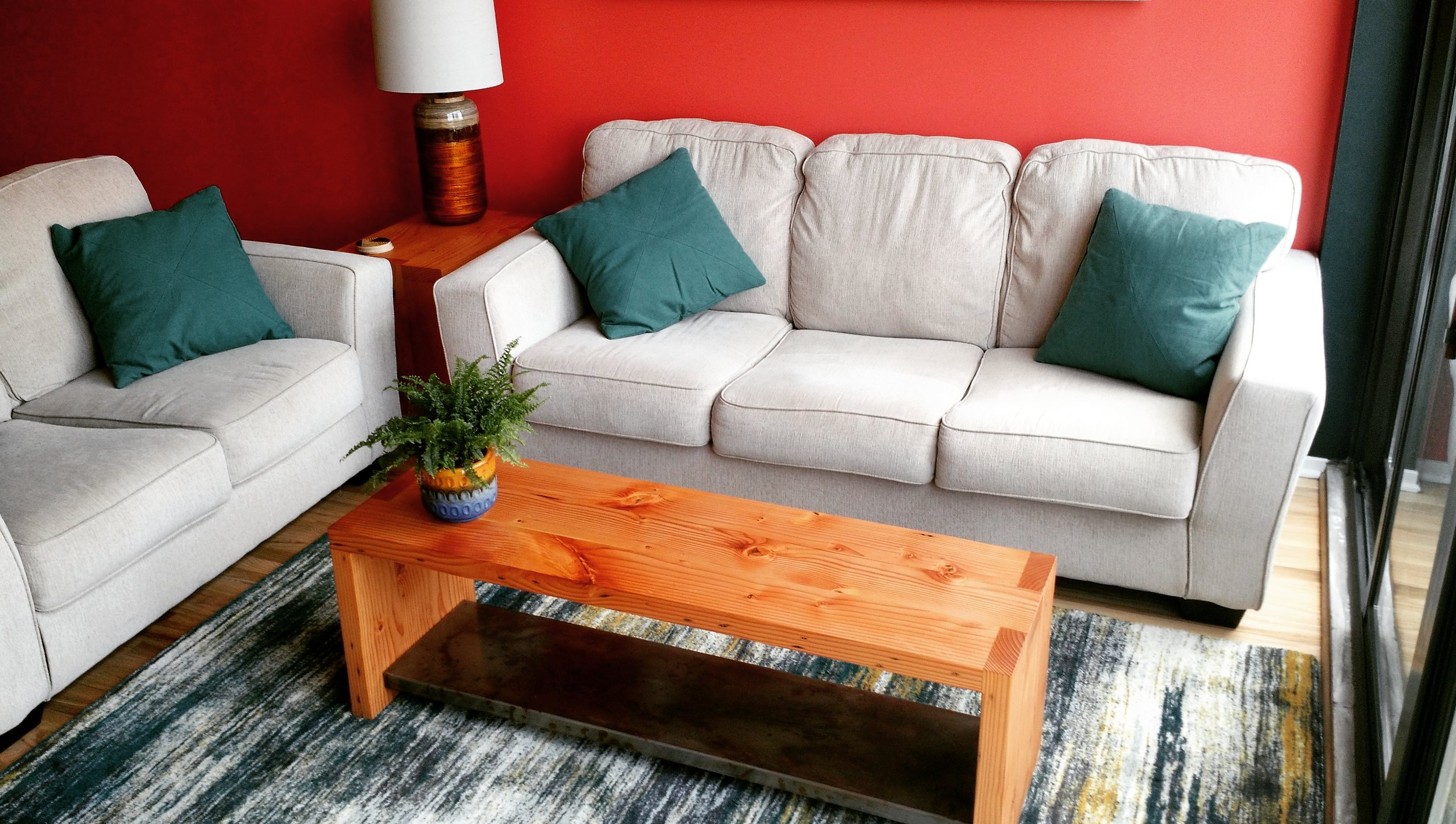 Box Joint Coffee Table and End Table