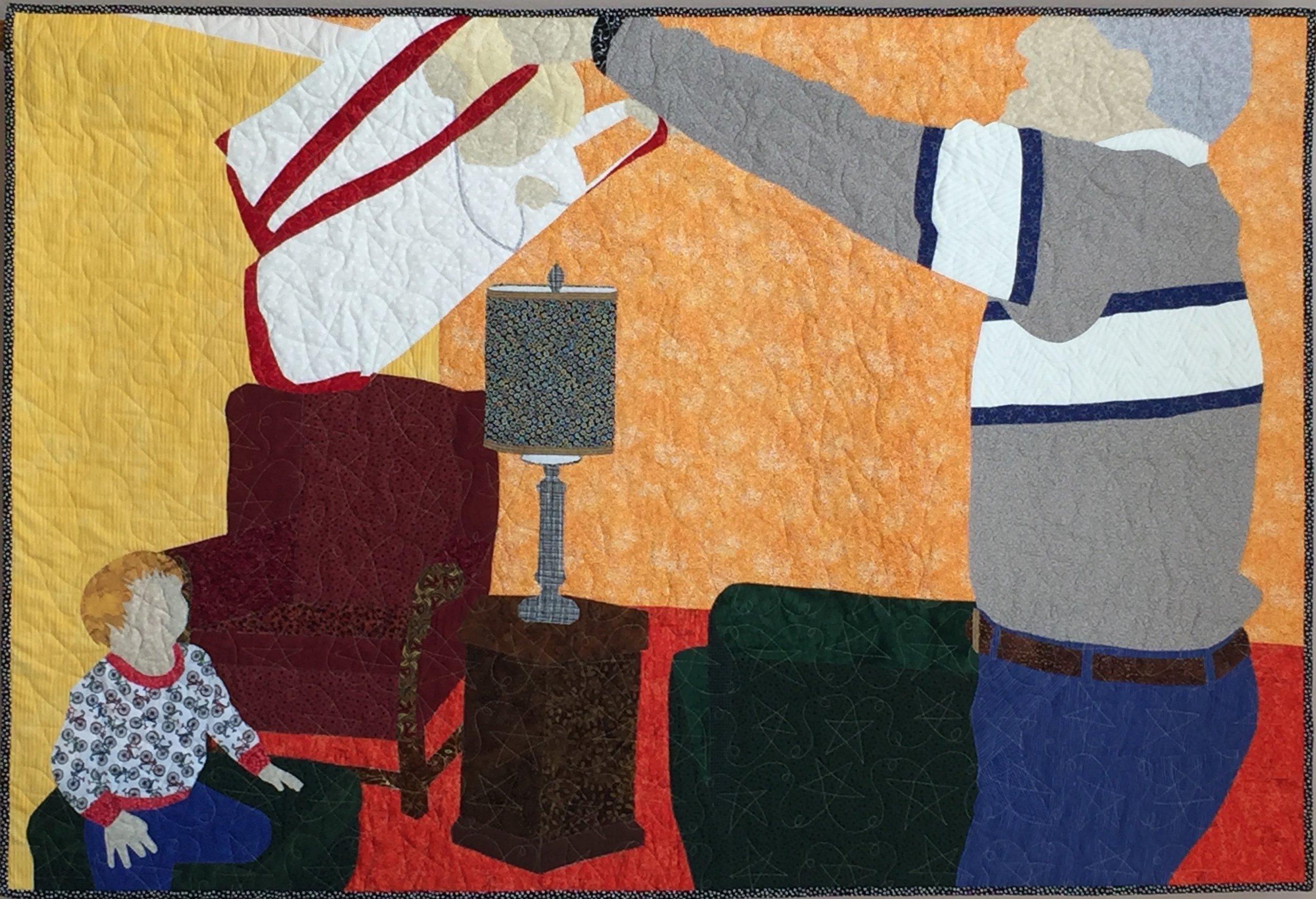 "Granddad's Tote Bag Rides, 2017, 40"" x 60"""