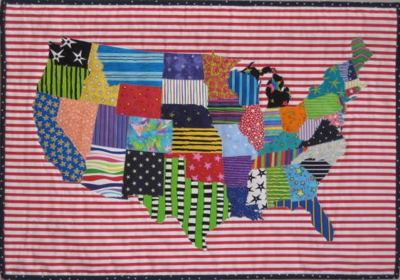 "Stars and Stripes, 2010, 18"" x 26"""