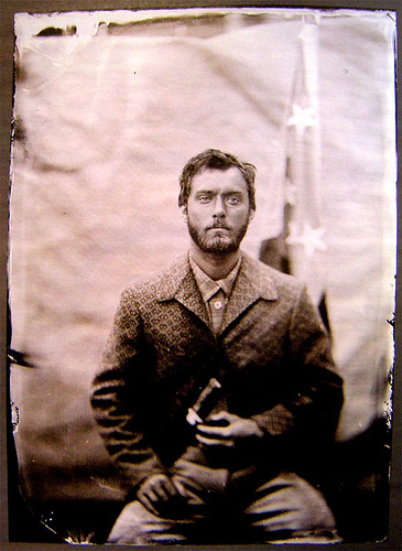 "Tintype of Jude Law as his character of W. P. Inman from the film ""Cold Mountain"""