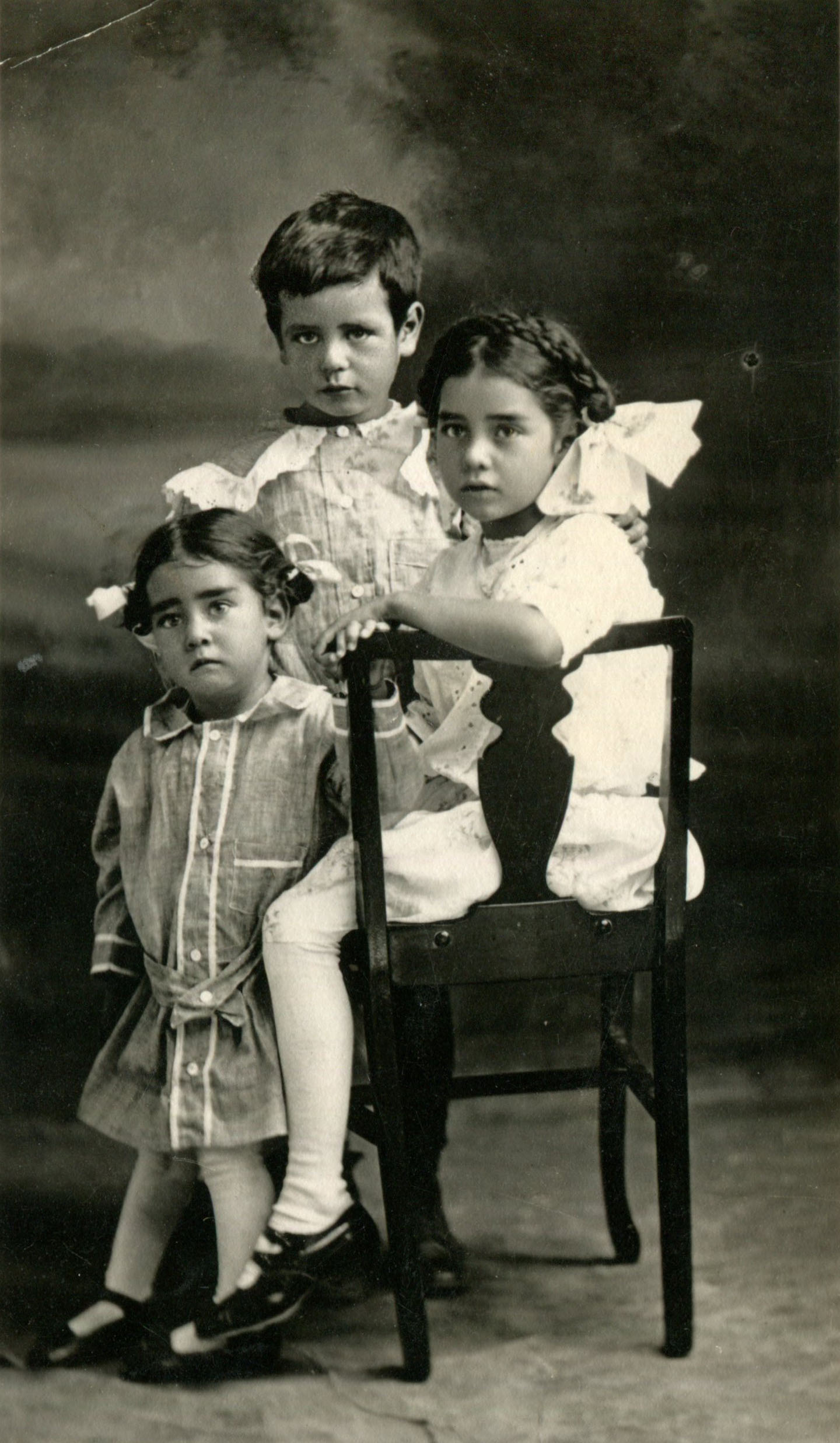 The writing on the back of this photograph reads: Sara, Fred and Salvador Andrade 1912. My grandfather was dressed as a girl?! . . . not quite sure why this happened . . . sometimes unearthing images from the past exposes more questions than answers, regardless, visual proof is most impactful and somehow more resilient over anything passed down through story or word of mouth.
