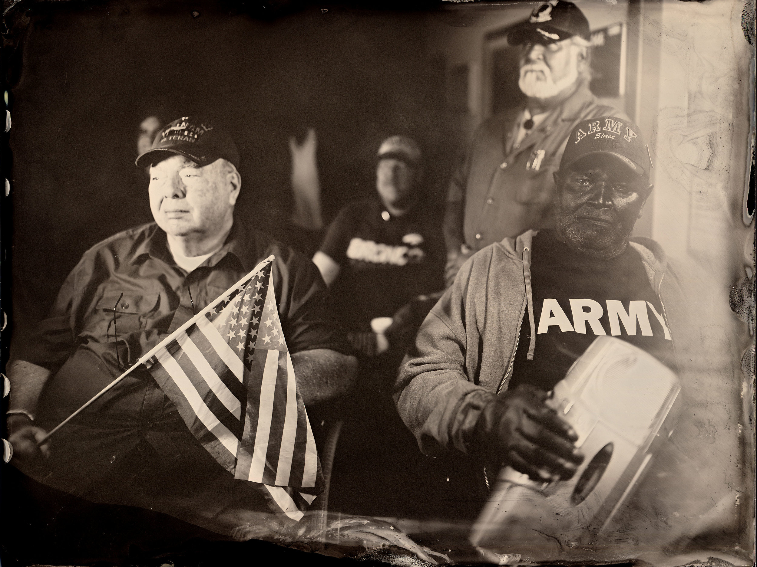 Wet Plate photograph of Vets by Patrick Andrade