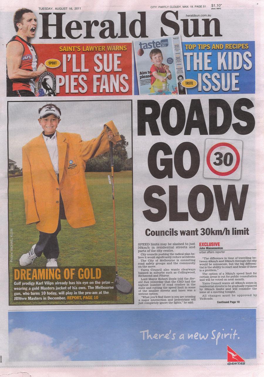 Herald Sun Front Page Australian Masters Tickets on Sale Photo Opportunity_2011.jpg