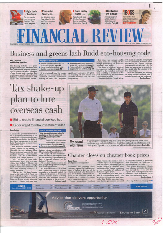 Financial Review Front Page Australian Masters Sponsor Engagement_2009.jpg